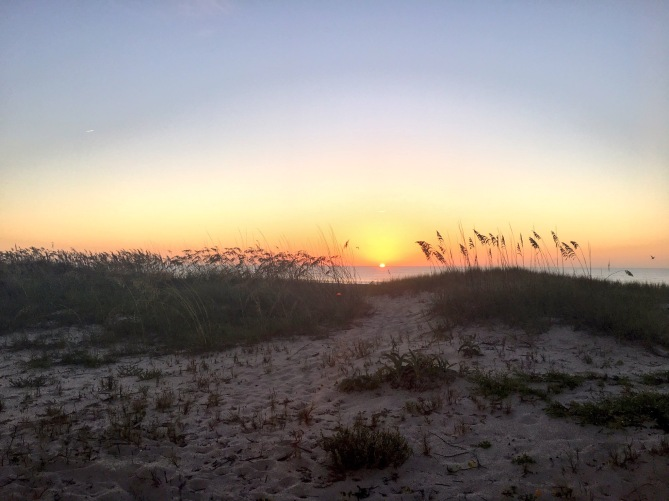 Morning sunrise before the race!